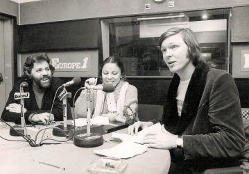 Avec Pierre Barouh et son épouse Dominique pendant notre éphémère émission sur Europe 1