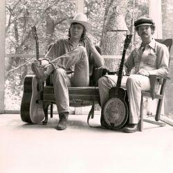 Avec Bill Keith chez lui à Woodstock