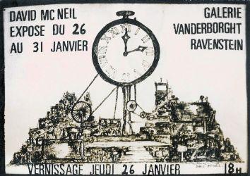 Invitation pour une exposition de dessins à Bruxelles (L'un d'eux sera acheté par le Musée d'Art Moderne de la ville!)