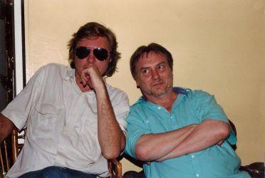 Avec Harlin Quist, génial éditeur de presque tous mes livres pour enfants